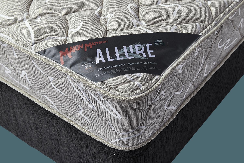 makin mattresses allure mattress queen single super king double size
