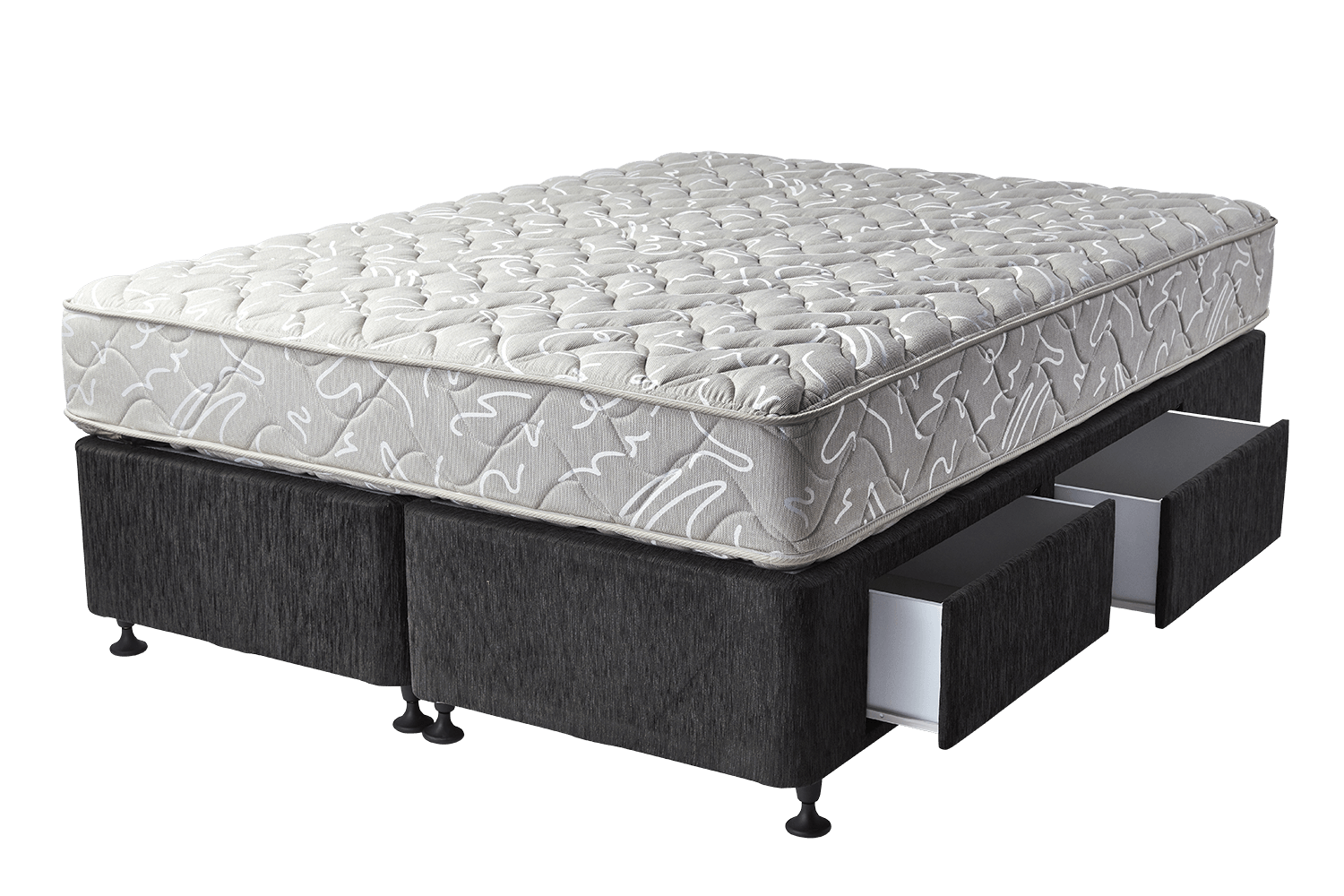 Makin mattresses ensemble base with drawers storage